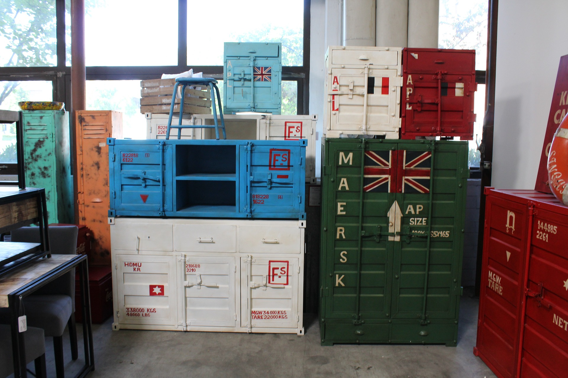 Containers en meuble